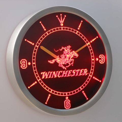 Image of Winchester LED Neon Wall Clock - Red - SafeSpecial