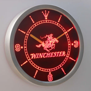 Winchester LED Neon Wall Clock - Red - SafeSpecial