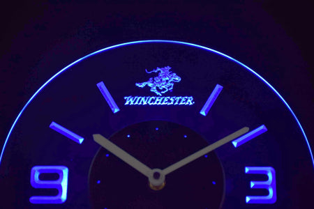 Winchester Modern LED Neon Wall Clock - Blue - SafeSpecial