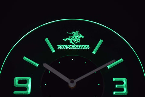 Image of Winchester Modern LED Neon Wall Clock - Green - SafeSpecial