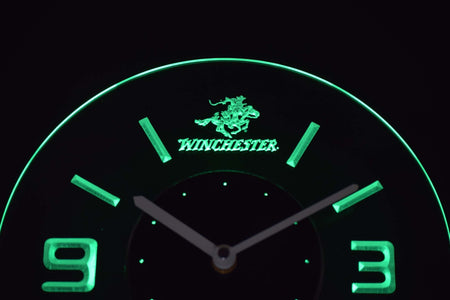 Winchester Modern LED Neon Wall Clock - Green - SafeSpecial