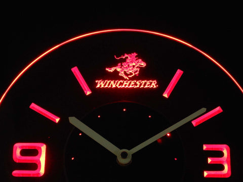 Image of Winchester Modern LED Neon Wall Clock - Red - SafeSpecial