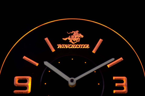 Image of Winchester Modern LED Neon Wall Clock - Yellow - SafeSpecial
