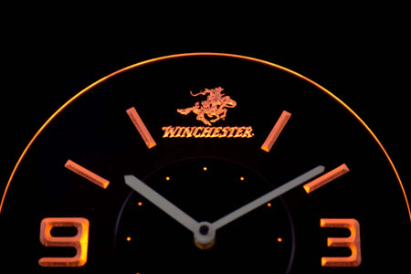 Winchester Modern LED Neon Wall Clock - Yellow - SafeSpecial