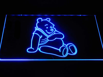 Winnie The Pooh LED Neon Sign - Blue - SafeSpecial