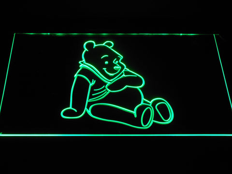 Image of Winnie The Pooh LED Neon Sign - Green - SafeSpecial