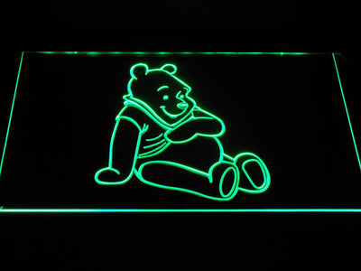 Winnie The Pooh LED Neon Sign - Green - SafeSpecial