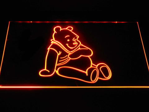Image of Winnie The Pooh LED Neon Sign - Orange - SafeSpecial