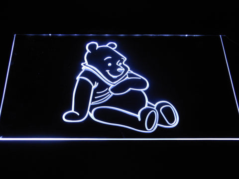 Image of Winnie The Pooh LED Neon Sign - White - SafeSpecial