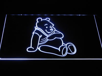 Winnie The Pooh LED Neon Sign - White - SafeSpecial