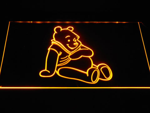 Image of Winnie The Pooh LED Neon Sign - Yellow - SafeSpecial