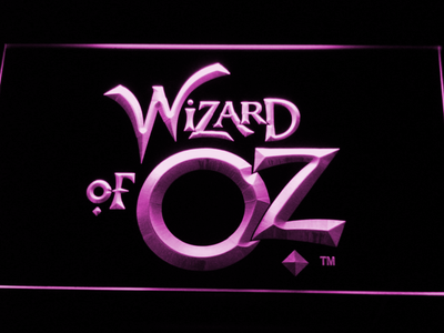 Wizard of Oz LED Neon Sign - Purple - SafeSpecial
