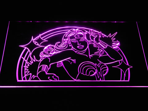 Wonder Woman LED Neon Sign - Purple - SafeSpecial
