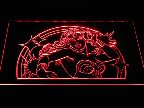 Wonder Woman LED Neon Sign - Red - SafeSpecial