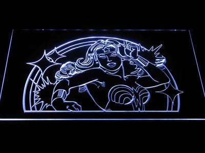 Wonder Woman LED Neon Sign - White - SafeSpecial