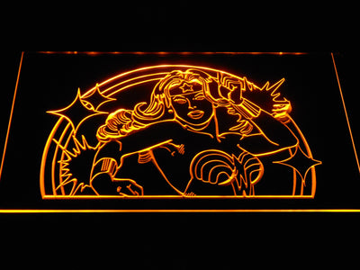 Wonder Woman LED Neon Sign - Yellow - SafeSpecial