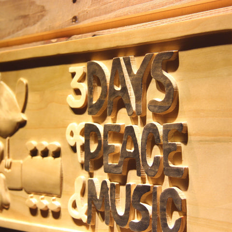 Woodstock Festival 1969 Wooden Sign - - SafeSpecial