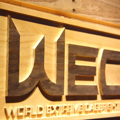 World Extreme Cagefighting Wooden Sign