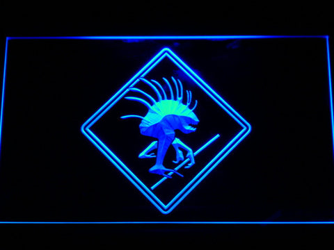 Image of World of Warcraft Murloc LED Neon Sign - Blue - SafeSpecial