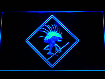 World of Warcraft Murloc LED Neon Sign - Blue - SafeSpecial