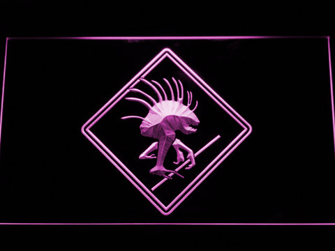 Image of World of Warcraft Murloc LED Neon Sign - Purple - SafeSpecial