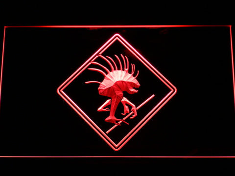 Image of World of Warcraft Murloc LED Neon Sign - Red - SafeSpecial