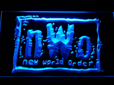 WWF New World Order LED Neon Sign - Blue - SafeSpecial