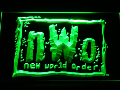 Image of WWF New World Order LED Neon Sign - Green - SafeSpecial