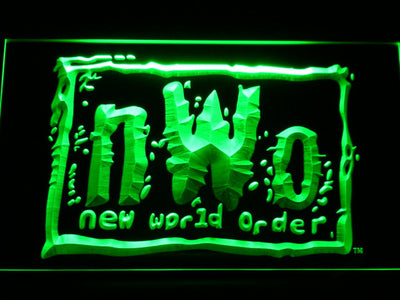 WWF New World Order LED Neon Sign - Green - SafeSpecial