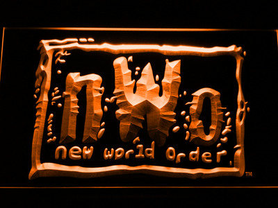 WWF New World Order LED Neon Sign - Orange - SafeSpecial