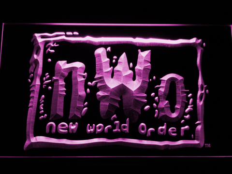 Image of WWF New World Order LED Neon Sign - Purple - SafeSpecial