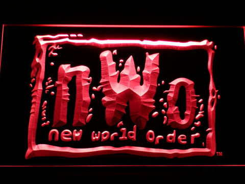 Image of WWF New World Order LED Neon Sign - Red - SafeSpecial