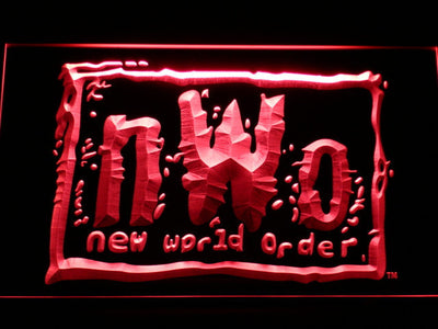 WWF New World Order LED Neon Sign - Red - SafeSpecial