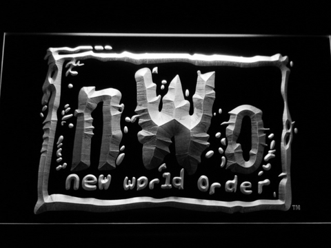 Image of WWF New World Order LED Neon Sign - White - SafeSpecial