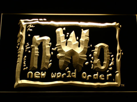 Image of WWF New World Order LED Neon Sign - Yellow - SafeSpecial