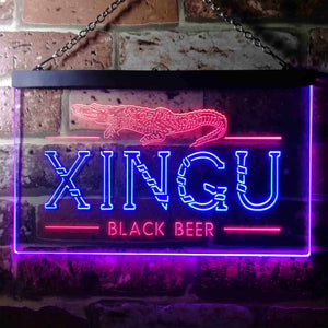 Xingu Black Beer Croc Neon-Like LED Sign - Dual Color