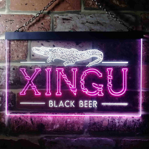 Image of Xingu Black Beer Croc Neon-Like LED Sign - Dual Color