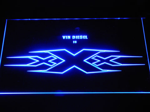 Image of XXX Vin Diesel LED Neon Sign - Blue - SafeSpecial