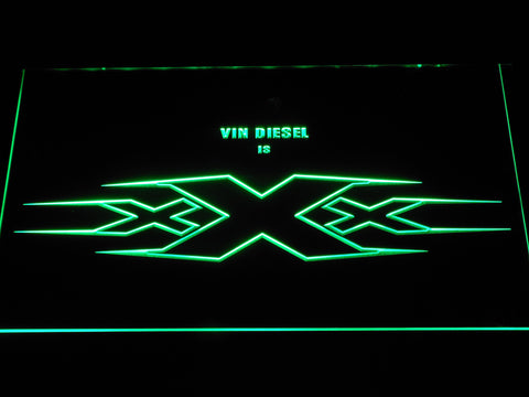 Image of XXX Vin Diesel LED Neon Sign - Green - SafeSpecial