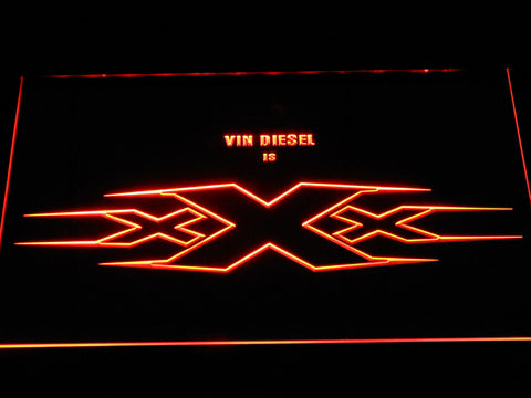 Image of XXX Vin Diesel LED Neon Sign - Orange - SafeSpecial