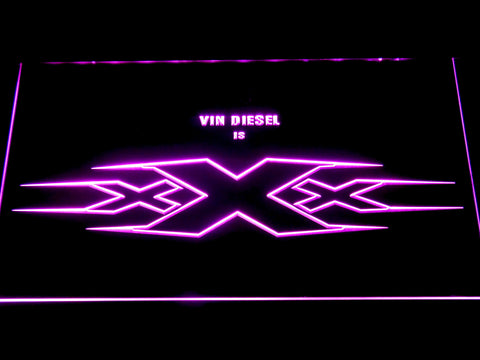 Image of XXX Vin Diesel LED Neon Sign - Purple - SafeSpecial