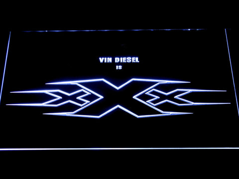 Image of XXX Vin Diesel LED Neon Sign - White - SafeSpecial