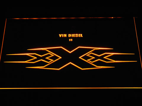 Image of XXX Vin Diesel LED Neon Sign - Yellow - SafeSpecial