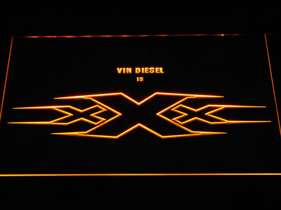 XXX Vin Diesel LED Neon Sign - Yellow - SafeSpecial