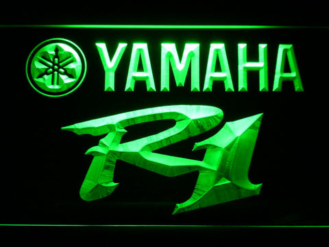 Image of Yamaha R1 LED Neon Sign - Green - SafeSpecial