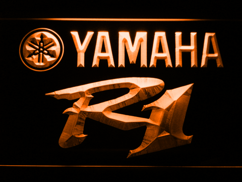 Image of Yamaha R1 LED Neon Sign - Orange - SafeSpecial