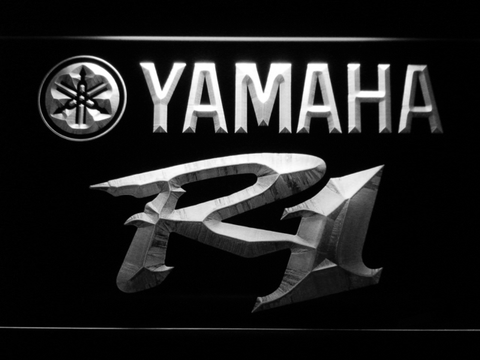 Image of Yamaha R1 LED Neon Sign - White - SafeSpecial