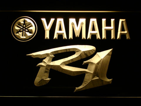 Image of Yamaha R1 LED Neon Sign - Yellow - SafeSpecial