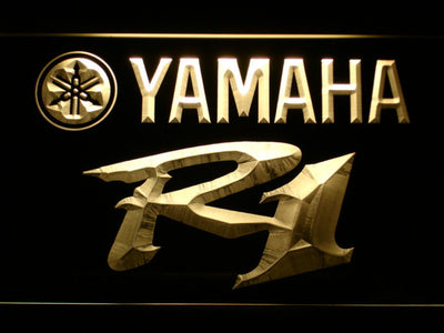 Yamaha R1 LED Neon Sign - Yellow - SafeSpecial