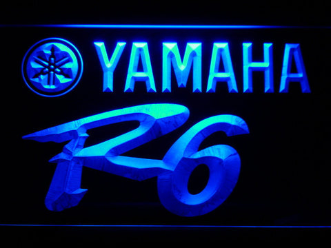 Image of Yamaha R6 LED Neon Sign - Blue - SafeSpecial